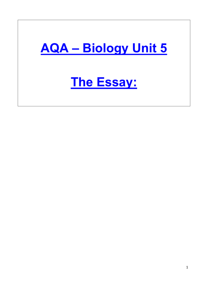 aqa biology essay structure and function of carbohydrates