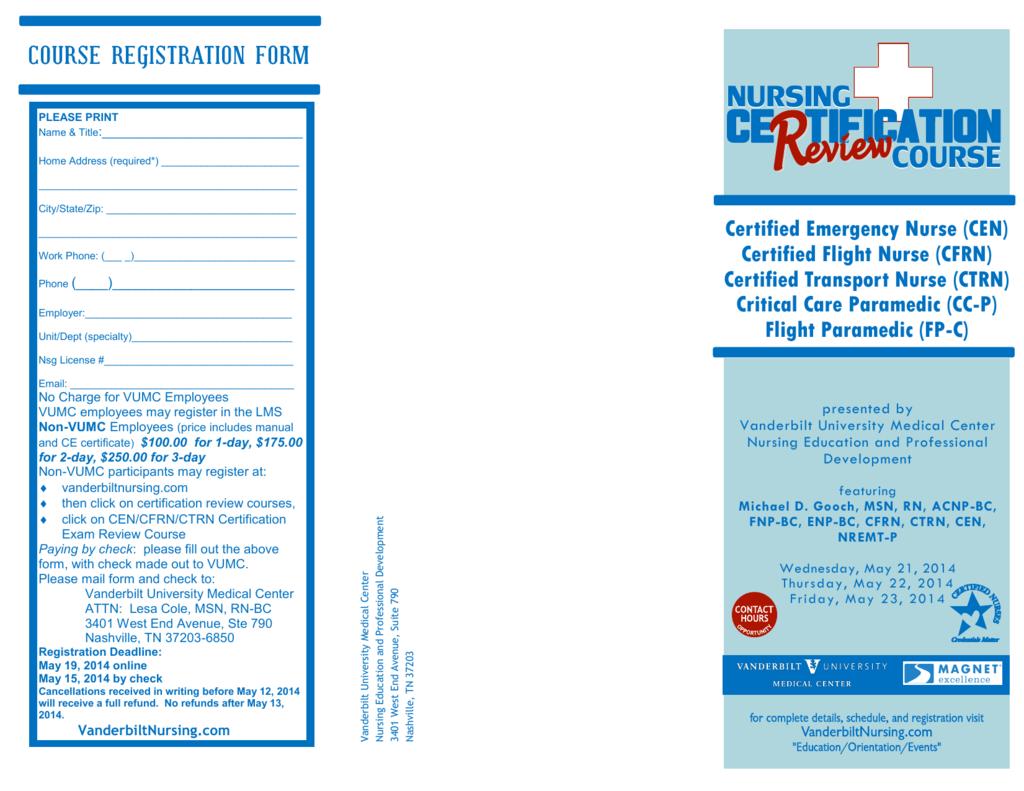 Certified Emergency Nurse Cen Certified Flight Nurse
