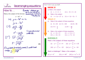How to . . . Rearranging equations