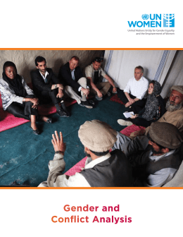 Gender and Conflict Analysis