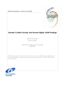 Gender Conflict Society and Conflict Society and Human Rights