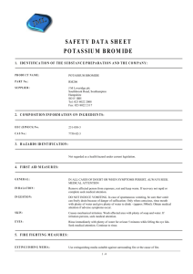 safety data sheet potassium bromide