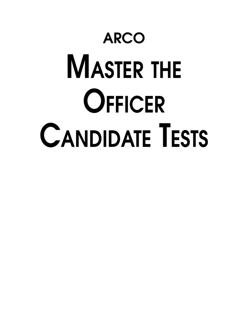 Master The Officer Candidate Tests 50 Rv Plug Wiring Diagram Cheater 220v Horn Relay