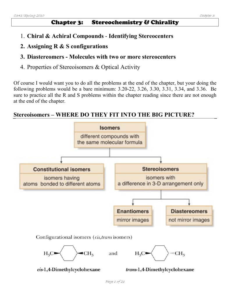 1 Chiral Achiral Compounds
