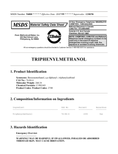 triphenylmethanol - West Liberty University