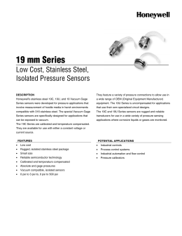19 mm Series - Honeywell Sensing and Control