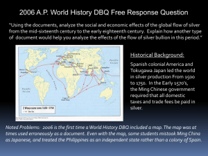 2006 A.P. World History DBQ Free Response Question