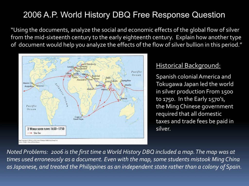 2006 ap world history free response questions answers