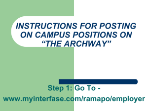 instructions for posting on campus positions on college central job
