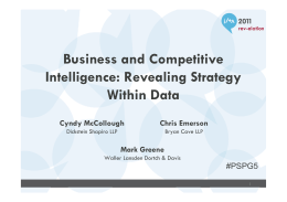 Business and Competitive Intelligence: Revealing Strategy Within