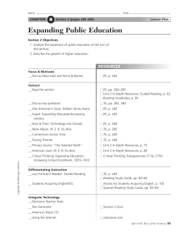 Expanding Public Education