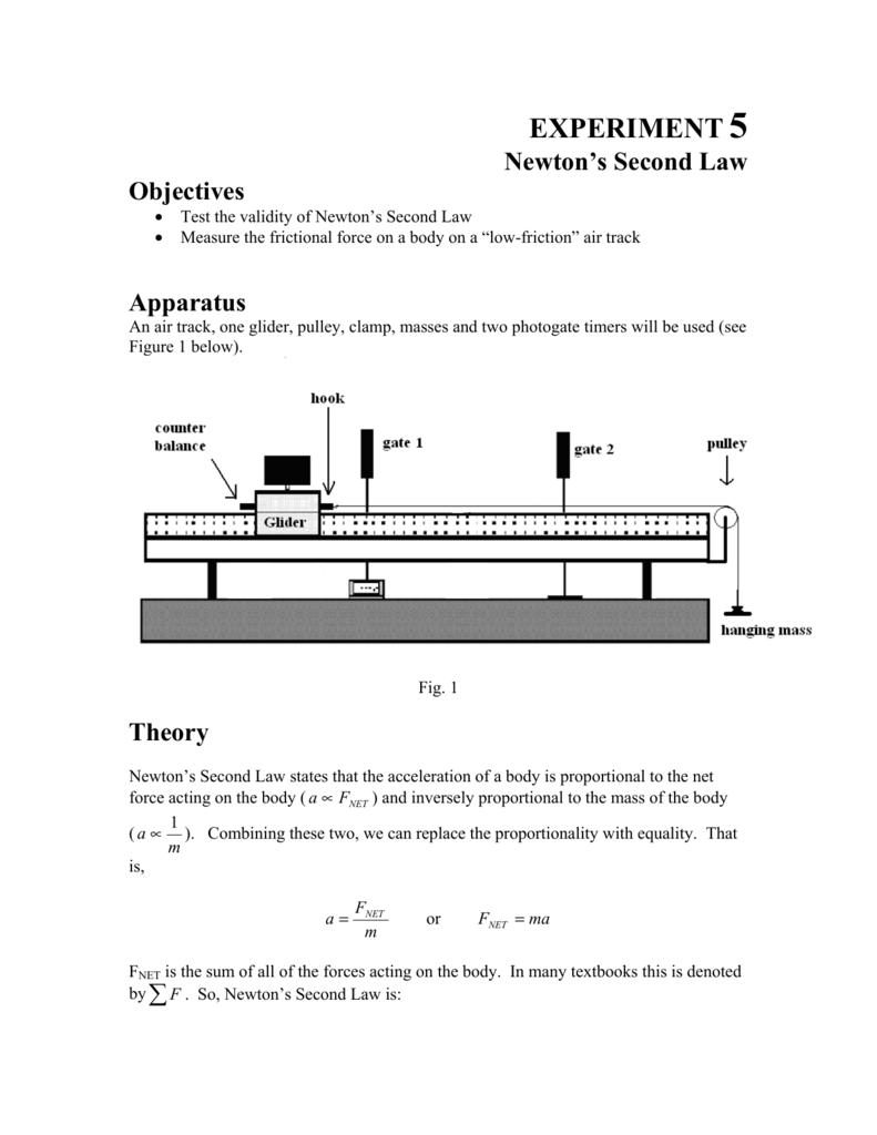 Lab 5 Newton's Second Law
