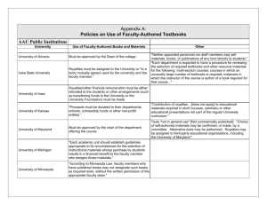 to view Appendix A: Policies on Use of Faculty