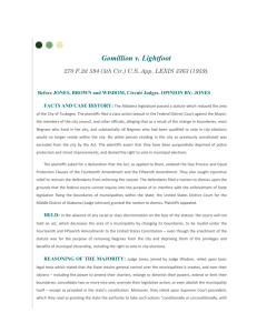 Fifth Circuit Case Digest: Gomillion v. Lightfoot