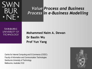 Value Process Process and and Business Process in e