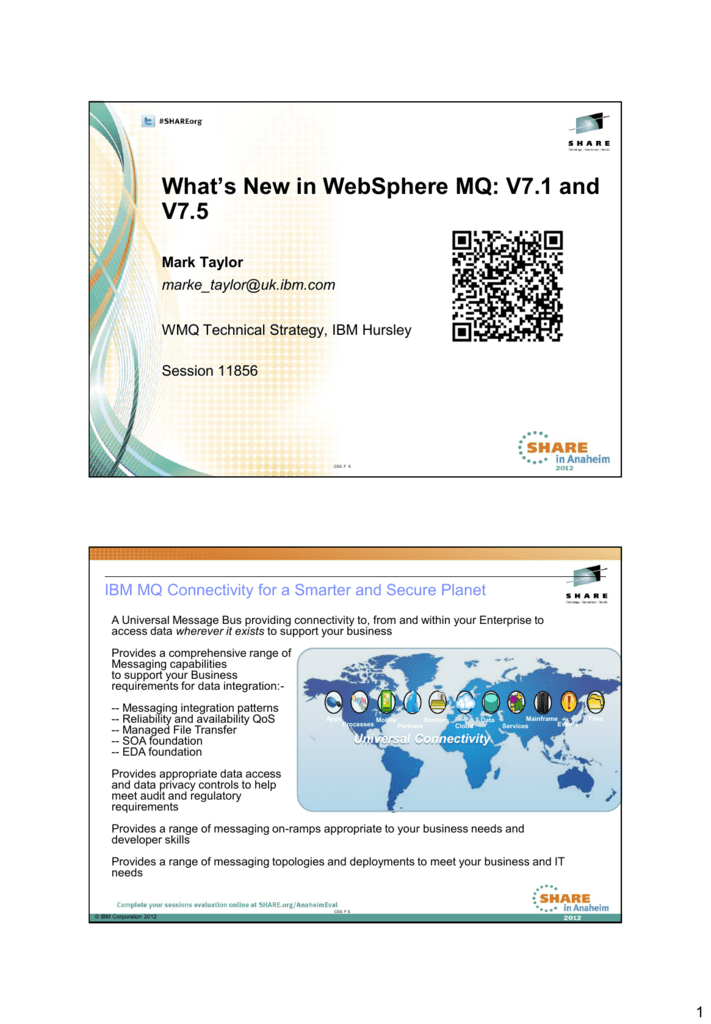 What's New in WebSphere MQ: V7 1 and V7 5