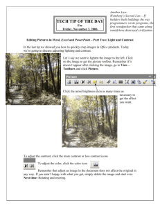Adjusting Contrast and Light in Images