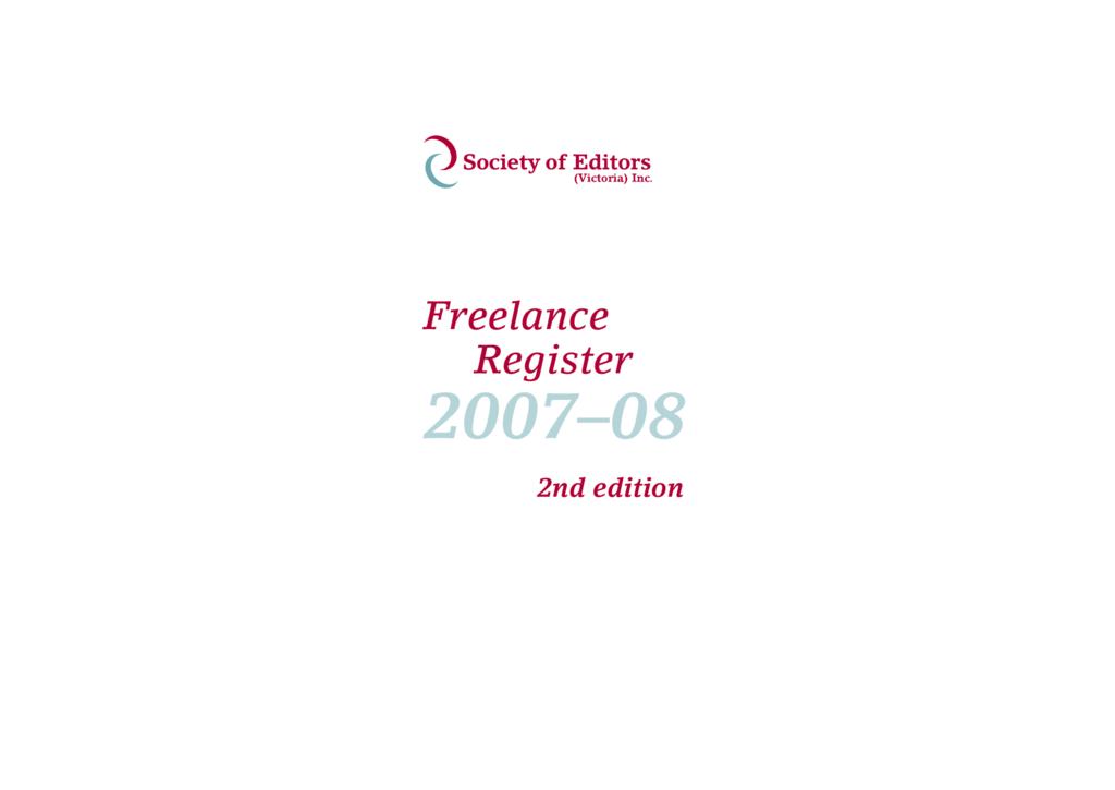 Freelance Register