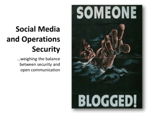 Social Media and Operations Security