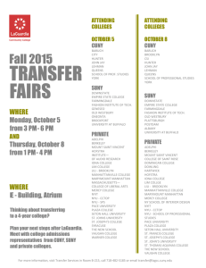 transfer fairs - LaGuardia Community College