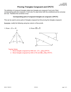 4-6 problem solving triangle congruence cpctc