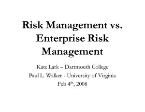 Risk Management vs. Enterprise Risk Management