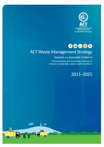 ACT Waste Management Strategy - Environment and Planning