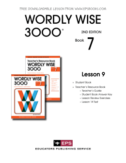 wordly wise vocab level 10 week Wordly wise is a great vocabulary system that room 23 is taking part in this year every week, students in room 23 are accountable for completing two activities within wordly wise at the end of each lesson (two weeks), students will take a wordly wise quiz.