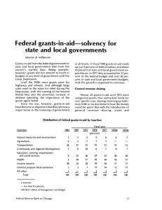 Federal grants-in-aid—solvency for state and local governments
