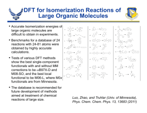 DFT for Isomerization Reactions of Large Organic Molecules