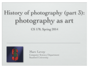 History of photography (part 3) - Computer Graphics at Stanford