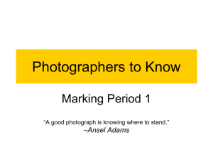Photographers to Know