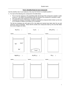 Net Ionic Equation Worksheet