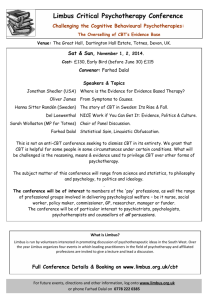 Limbus Critical Psychotherapy Conference