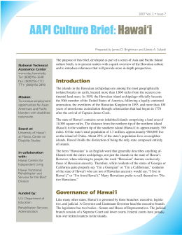 AAPI Culture Brief: Hawai'i