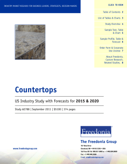 Countertops The Freedonia Group