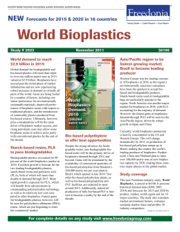 World Bioplastics