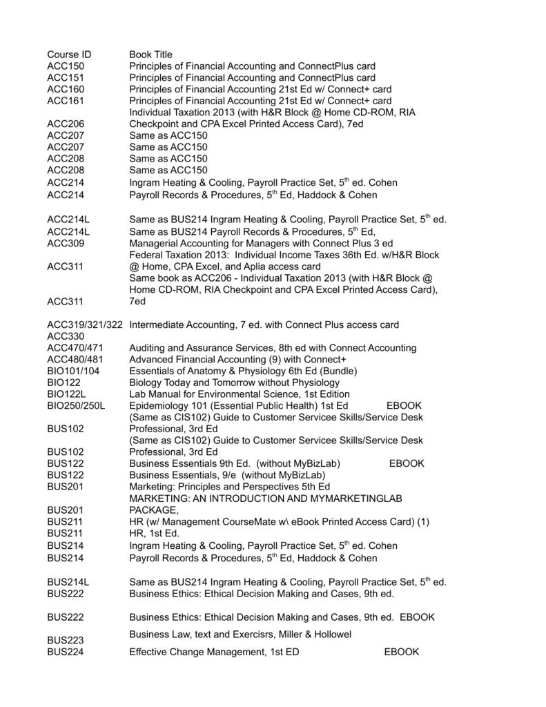 ECPI-Skyline 2013 Textbook Information Sheet