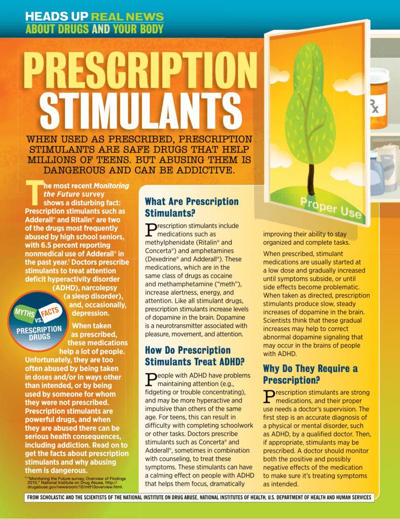 prescription stimulants - Heads Up for Students