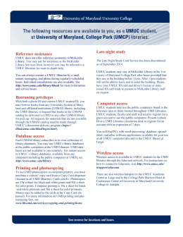 brochure. - University of Maryland Libraries