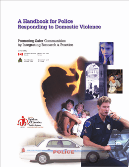 Handbook for Police Responding to Domestic Violence