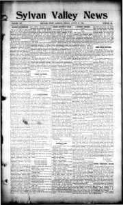 volume-xix bbevmd, north carolina, friday. august 28. 1914. number-35