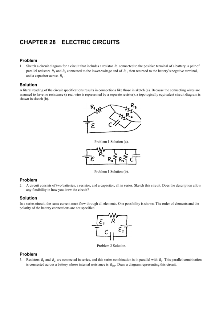 chapter 28 electric circuits