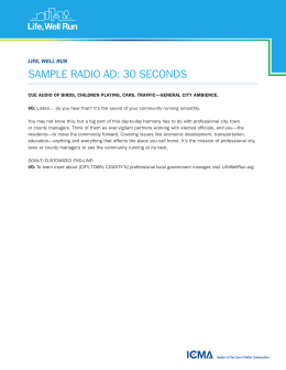 sample radio ad: 30 seconds