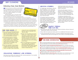 Dry Cleaning - Worldwatch Institute