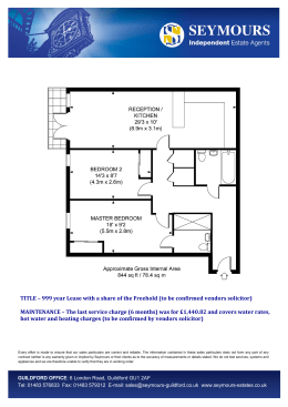 TITLE – 999 year Lease with a share of the Freehold (to be