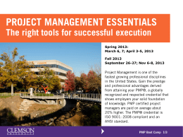 Project Management Boot Camp 2013