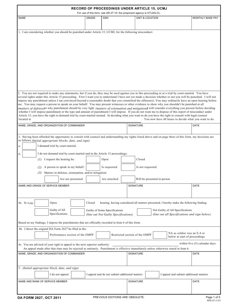 da form 2627 1