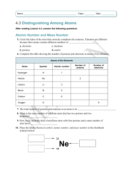 4.3 Distinguishing Among Atoms