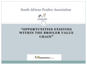 Broiler Value Chain - South African Poultry Association